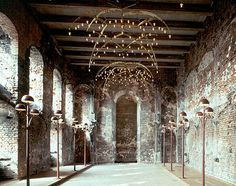 Koldinghus castle, Denmark. Nice combination of modern architecture and lighting in historic rooms.