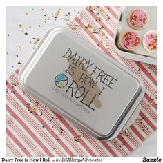 Dairy Free is How I Roll Personalzied Cake Pan