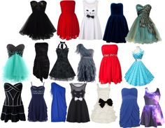 """""""all the dresses i like that i could fit"""" by amber-644 ❤ liked on Polyvore"""