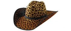 Leopard print cowboy hat. Now that's what I'm talking about! :)☮★ DiamondB! Pinned ★☮