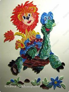 Картина панно рисунок Квиллинг Наш радужный квиллинг Бумага Бумажные полосы фото 1