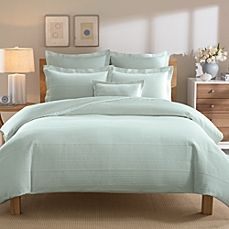 image of Real Simple® Linear Duvet Cover in Aqua
