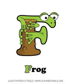Frog - Alphabetimals make learning the ABC's easier and more fun! http://www.alphabetimals.com