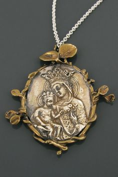 Madonna and Child necklace, by Corpus Christi