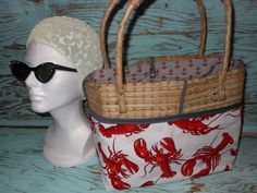 Lobster  Beach Bag Purse or Tote by by searchnrescue2 on Etsy, $50.00