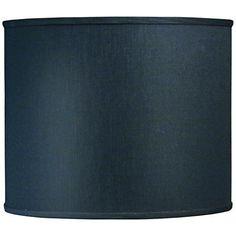 Stiffel Black Shadow Hardback Drum Shade 14x14x12 (Spider) - #7W277 | www.lampsplus.com
