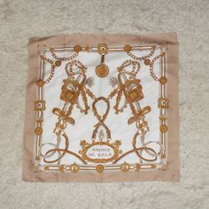 "Vintage Gil de Losne ""Brides de Gala"" Scarf. A timeless piece which is a real find for fashionistas!    Always trendy, always chic, this scarf makes a feature on its own!    Made in Italy, Polyester    Size: 75cmX75cm - 29.5''X29.5''    Perfect vintage condition!"