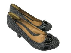 CROFT & BARROW Size 8.5M Womens Sole Sense Ability Black Herringbone Shoes EUC #CroftBarrow #PumpsClassics #WeartoWork