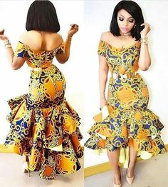Ankara styles are the most beautiful pieces of clothing. Ankara Styles is one of the hottest African fashion you need to wear. We have many Women's African Fashion Style Outfits for you Perfe… African Inspired Fashion, African Print Fashion, Africa Fashion, Fashion Prints, Fashion Design, African Print Dresses, African Fashion Dresses, African Dress, African Prints