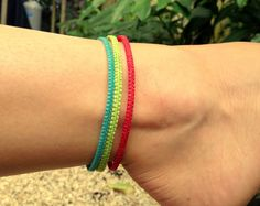 Your place to buy and sell all things handmade Ankle Jewelry, Ankle Bracelets, Jewlery, Next Clothes, Colorful Bracelets, Anklets, Hacks, Random, Summer