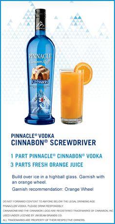 Check out this Pinnacle® Vodka Drink Recipe: Cinnabon Screwdriver!