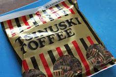 """Tsinuski toffee (tätä melkein ennen ku hopeatoffeeta) Joko pussina tai """"patukkana"""""""
