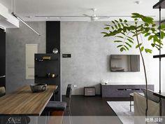 黑白灰階材質層次堆疊,專屬單身男子的自在居家-設計家 Searchome