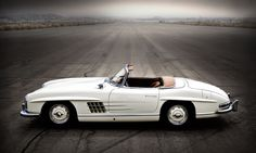 This 300 SL Roadster was driven by Sir Stirling Moss at the 2011 Tour d'Elegance