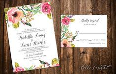 Een bloemige set trouwkaarten. Bestel ze hier!