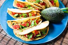 Cilantro Avocado Chickpea Salad Tacos. #vegan