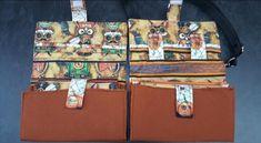 Compagnons Complice marrons et coton illustré cousus par Kristel - Patron Sacôtin