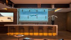 Luxury Residence – 1307 Sierra Alta Way, Los Angeles, CA Sunset Strip, Home Trends, Entertainment Room, Pool Designs, Bars For Home, Luxury Real Estate, Game Room, Wine Rack, Home Goods