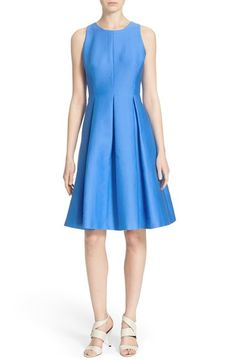 kate spade new york cotton silk fit & flare dress available at #Nordstrom