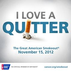Encourage your friends and family to help create a world with less cancer and more birthdays by making a plan to quit tobacco or taking part in the fight against tobacco on November Quit Tobacco, Oncology Nursing, Quit Smoking Tips, Letter N Words, Smoking Cessation, Relay For Life, Make A Plan, Lung Cancer