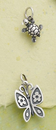 Spring Collection - Turtle Charm and Mariposa Charm #JamesAvery