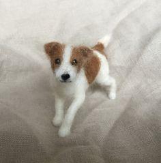 Dell'ago infeltrito piccolo cane ritratto Jack di ClaudiaMarieFelt