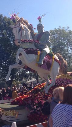Beautiful float from the rose parade