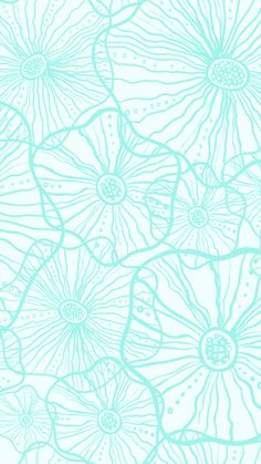 #Blue #Flowers #Pattern / Download more #Preppy #iPhone #Wallpapers and #Backgrounds at @prettywallpaper