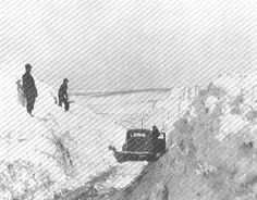 Scenes from the blizzard that hit Spencer in 1949.