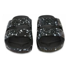 Moses Buckled Speckle Sandals Black