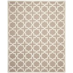 @Overstock.com - Safavieh Handmade Moroccan Cambridge Beige Wool Rug (8' x 10') - Hand-tufted of a 100-percent wool pile, this handmade wool rug features a special high-low construction to add depth and unusual detailing.  http://www.overstock.com/Home-Garden/Safavieh-Handmade-Moroccan-Cambridge-Beige-Wool-Rug-8-x-10/7748007/product.html?CID=214117 $412.99