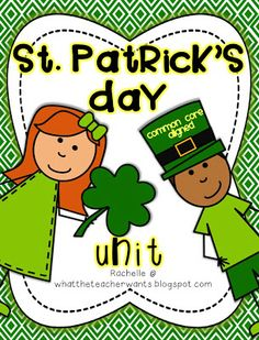 This Common Core aligned St. Patrick's Day Unit has everything you need to integrate this fun holiday with math and literacy! Each activity has var. School Classroom, School Fun, School Stuff, Classroom Ideas, School Ideas, Common Core Activities, School Holiday Activities, St Patrick's Day Crafts, Thematic Units