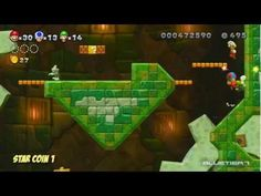 New Super Mario Bros. U - (Co-op) Acorn Plains-Tower | Crushing Cogs Tower Star Coins
