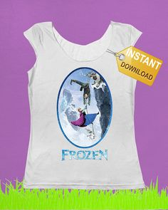 T shirt Frozen climbing Iron on Transfer by TshirtCustomDesign, €3.50