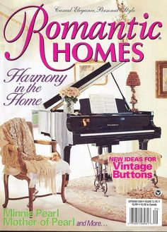 Romantic Homes Magazine Vintage Buttons Minnie Pearl Mother-of-Pearl & More 9/00