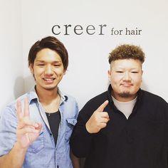 """""""本日のお客様 カットカラーパーマのモデルにご来店してくださいました❗️ ハードパーマですが、心はとてつもなく優しいお兄さん^o^  本日はご来店ありがとうございました。"""" Photo taken by @creer_for_hair on Instagram, pinned via the InstaPin iOS App! http://www.instapinapp.com (08/25/2015)"""