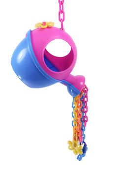 This sugar glider toy is just too fun! Its time for spring and this whimsical watering can cascades a downpour of water and flowers. The 3mm