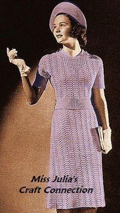vintage crochet dress patterns free   Miss Julia's Vintage Knit & Crochet Patterns