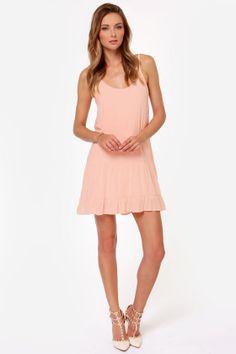 Did I Flutter? Peach Babydoll Dress at LuLus.com!