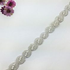 Rhinestone Beaded Trim Bridal Headband,very beautiful. www.sigiving.com