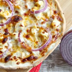 Best Gluten Free Thin Crust BBQ Chicken Pizza- paper thin and crispy not soggy.