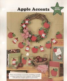 Apple Accents Plastic Canvas Patterns by needlecraftsupershop, $4.50