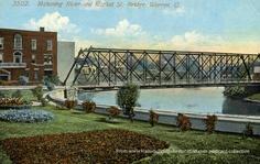 Mahoning River and Market St. Bridge, Warren, Ohio