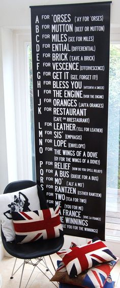 Gee, for Get it, haha  Bus Roll with the Cockney Alphabet.   via Etsy......yeah haha