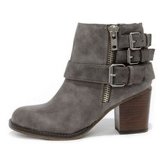 Madden Girl Wicker Taupe Buckled Ankle Boots ❤ liked on Polyvore featuring shoes, boots, ankle booties, taupe bootie, taupe ankle boots, buckle bootie, ankle boots and buckle booties