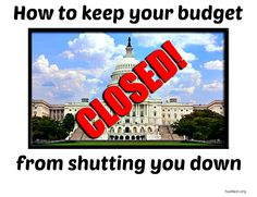 Budget tips to keep you from shutting down like the US government.