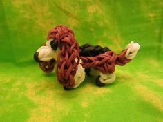 Rainbow Loom Basset Hound Dog or Puppy Charm. 3-D - YouTube