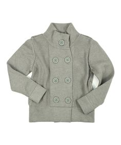 Love this Slate Colette Double Front Cardigan - Infant & Girls by Petit De Nimes on #zulily! #zulilyfinds