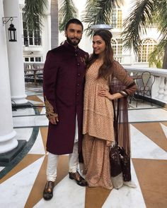 """""""Photo of the Day: @ranveersingh and @deepikapadukone for #BajiraoMastaniPromotions in Lucknow today. Witness the epic love story of #Bajirao and #Mastani…"""""""