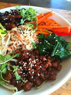 Vegan Beef & Vegetable Bibimbap Bowls #BeyondMeat